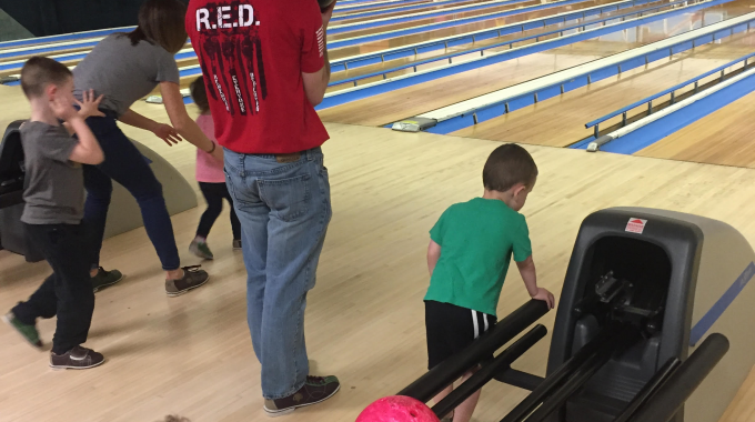 Tom Zirilli Teaches The Kids A Thing Or Two About Bowling.